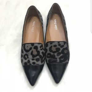 Nine West Trainer Leopard Leather Cowhide Loafers